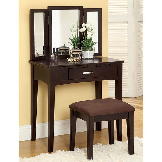 Potterville Vanity Table with Stool at Household Furniture
