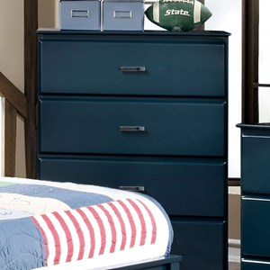 Transitional 4 Drawer Chest