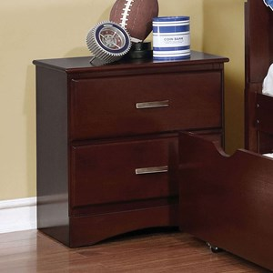 Transitional 2 Drawer Night Stand