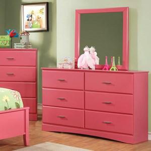 Transitional 6 Drawer Dresser
