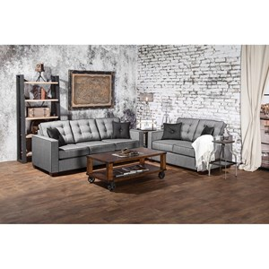 Contemporary Sofa and Love Seat