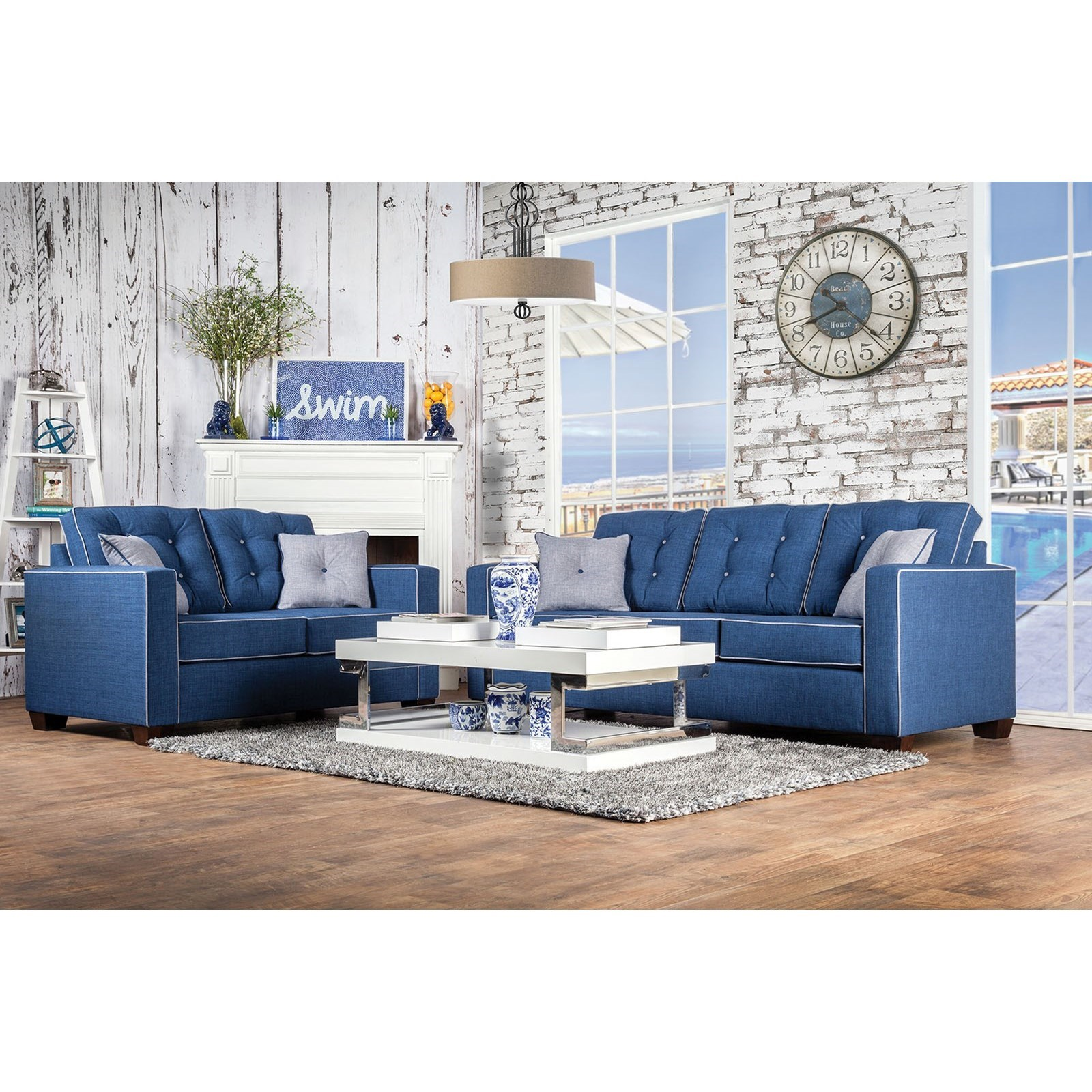 Ravel I Sofa and Love Seat by Furniture of America - FOA at Del Sol Furniture