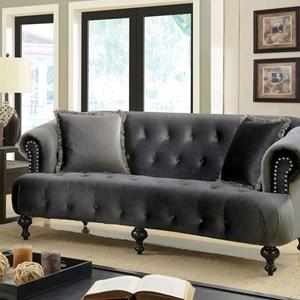 Glamorous Sofa with Tufted Back