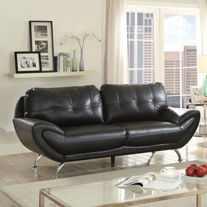 Contemporary Sofa with Tufted Back Cushion