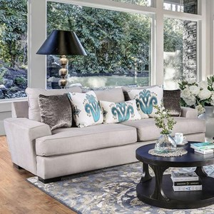 Contemporary Oversized Sofa with Chunky Arms
