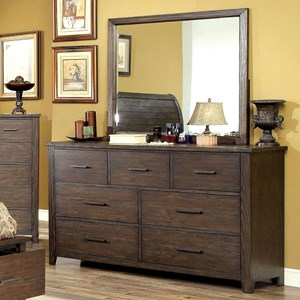 Rustic Dresser with Felt-Lined Drawer