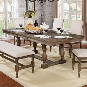 Relaxed Vintage Dining Table with 2 Leaves