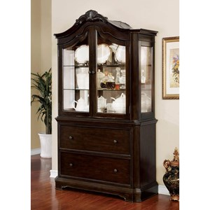 Traditional Hutch & Buffet with Lighting