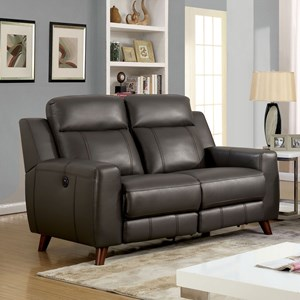 Reclining Loveseat with USB Outlet