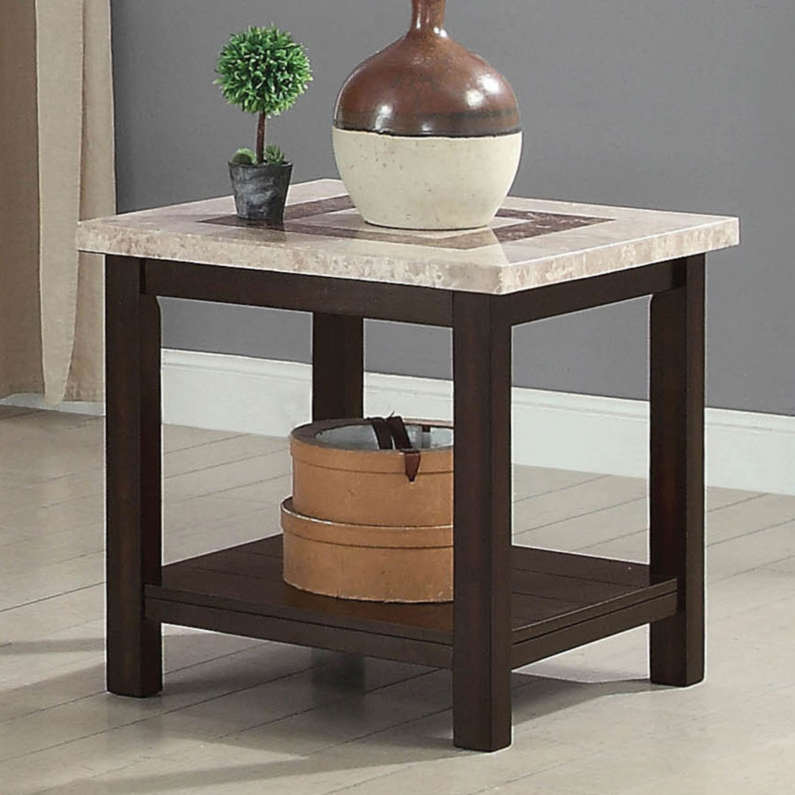 Rosetta End Table by Furniture of America at Nassau Furniture and Mattress