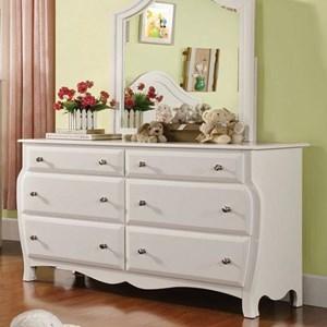 Transitional Dresser with Curved Design