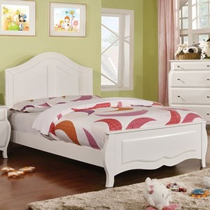 Transitional Full Bed with Curved Design