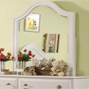 Transitional Mirror with Curved Top