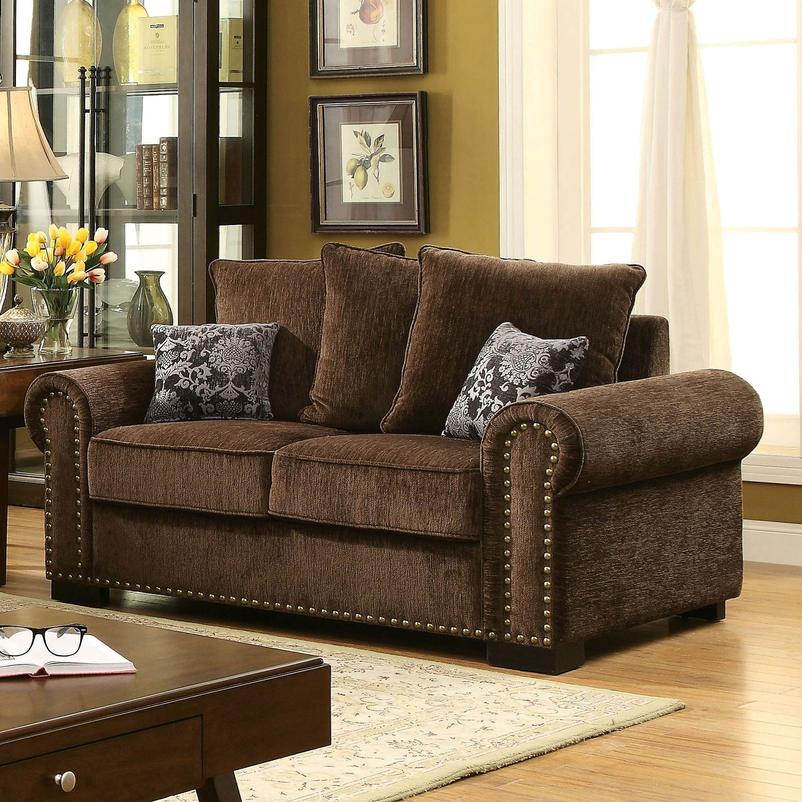 Rydel Loveseat by Furniture of America at Nassau Furniture and Mattress