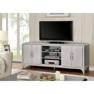 Contemporary TV Console with 9 Shelves