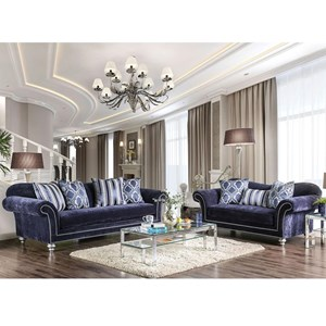 Transitional Sofa and Love Seat Set