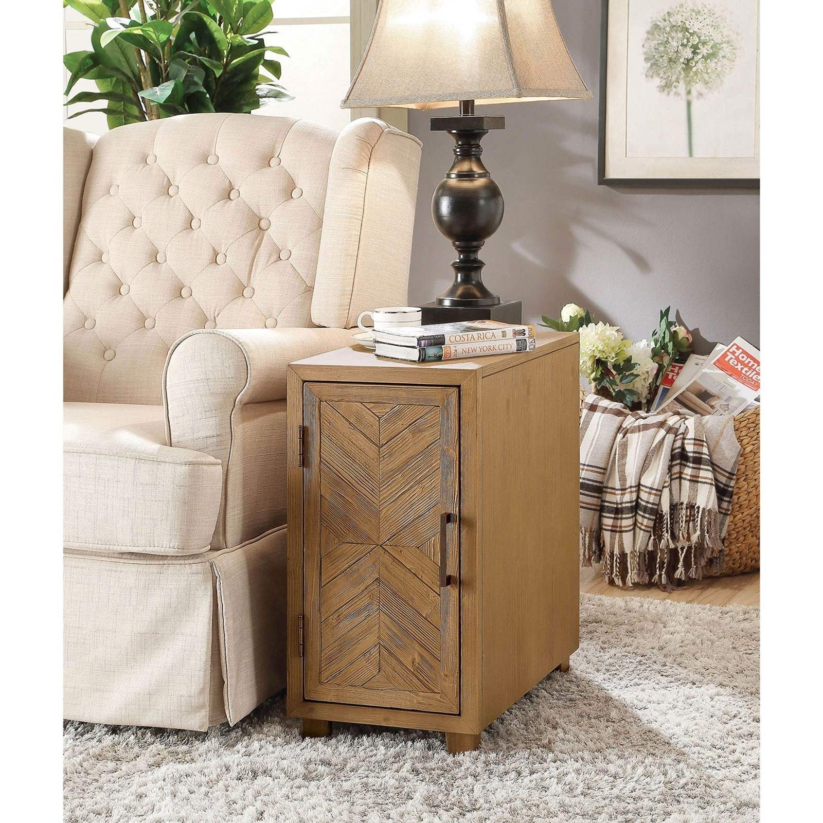 Sage Side Table by Furniture of America at Nassau Furniture and Mattress