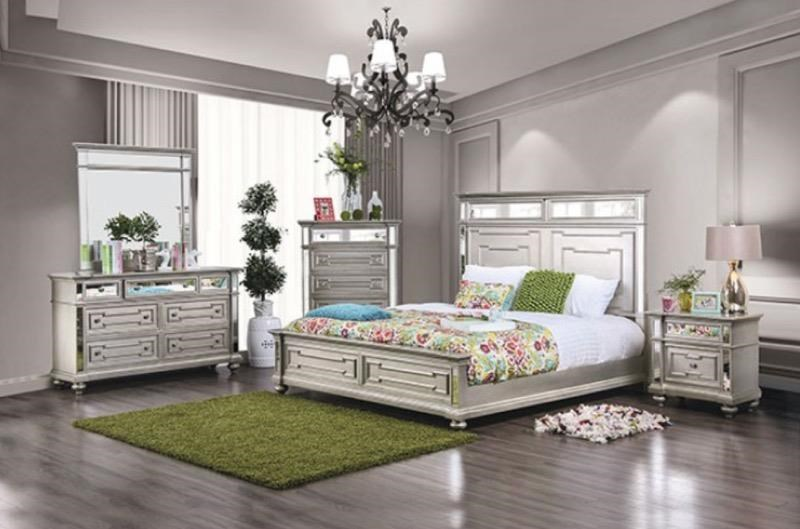 Salamanca Glam Queen Bedroom Set by Furniture of America at Dream Home Interiors