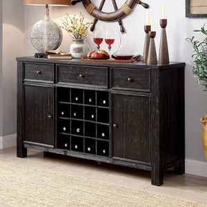 Rustic Server with Wine Storage
