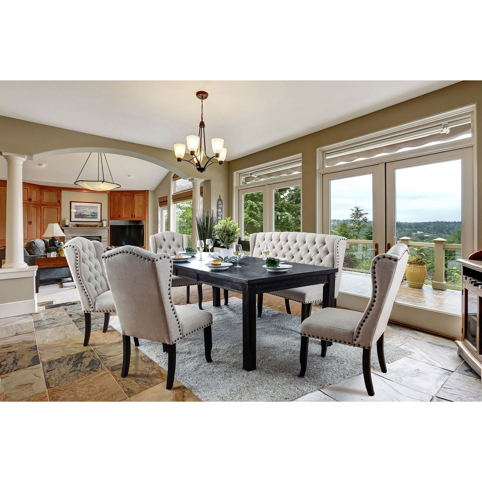Sania I 6 Piece Dining Set at Household Furniture