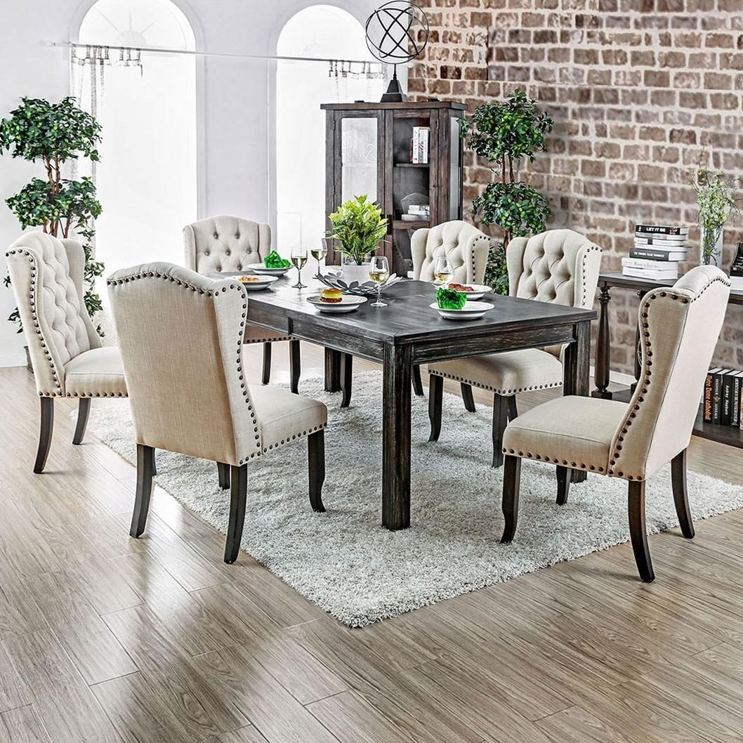 Sania I 7 Piece Dining Set at Household Furniture