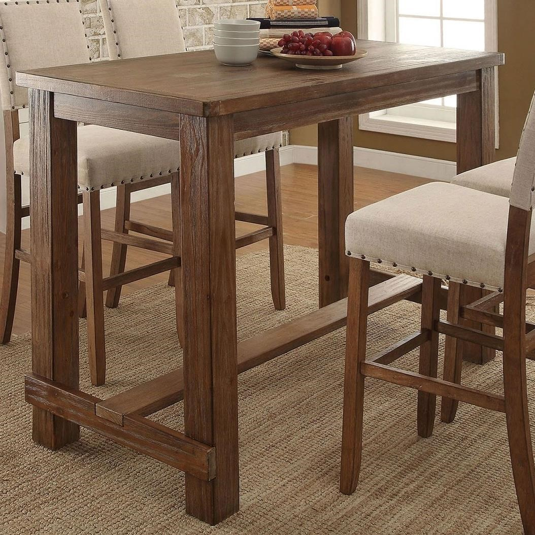 Sania Bar Height Table by Furniture of America at Corner Furniture
