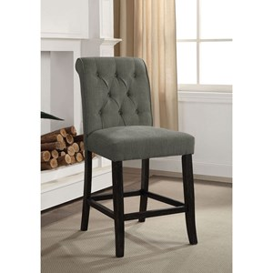 Rustic Bar Stool 2- Pack with Tufted Back