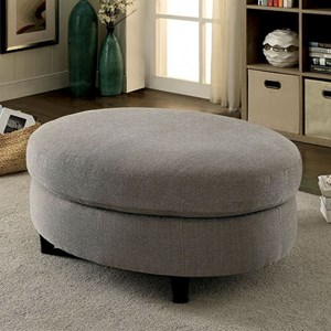 Contemporary Ottoman with Exposed Legs