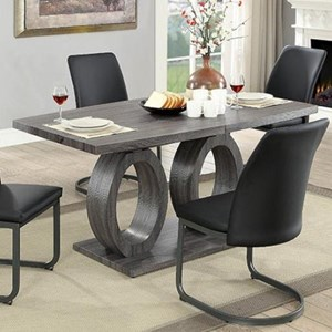 Contemporary Dining Table with Butterfly Leaf