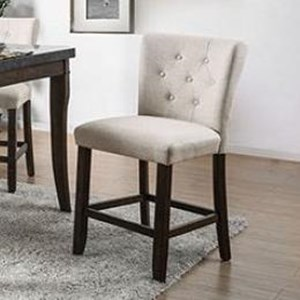 2 Pack of Transitional Counter Height Chairs with Button Tufting Back