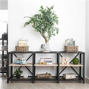 2-Teir Long Open Shelves Set