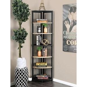 Industrial 6-Tier Corner Shelf