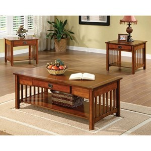 3 Pc. Table Set with Coffee Table and 2 End Tables