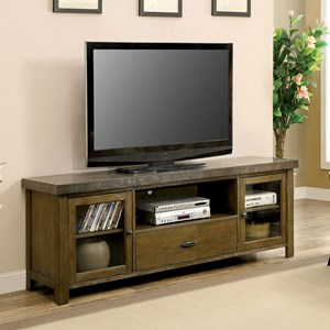 """74"""" TV Console with Stone Top"""