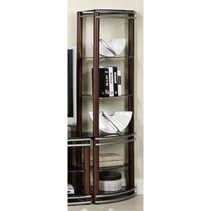 Contemporary 2 Piece Piers with 10 Shelves