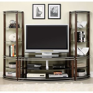 Contemporary Wall Unit with 12 Shelves