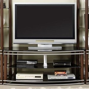Contemporary TV Console with 2 Shelves