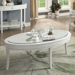Contemporary Coffee Table with Beveled Glass Top