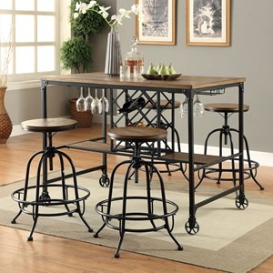 Industrial Table + 4 Stools