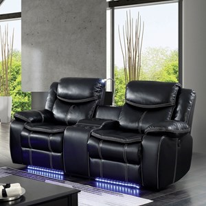 Power Reclining Loveseat with Storage Console