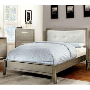 King Bed, Gray