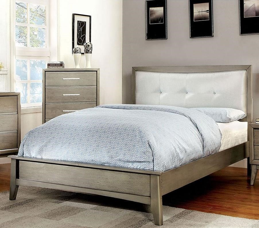 Snyder II Full Bed, Gray by Furniture of America - FOA at Del Sol Furniture