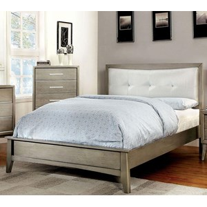 Queen Bed, Gray