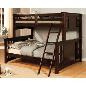 Twin over Full Size Youth Bedroom Bunk Bed