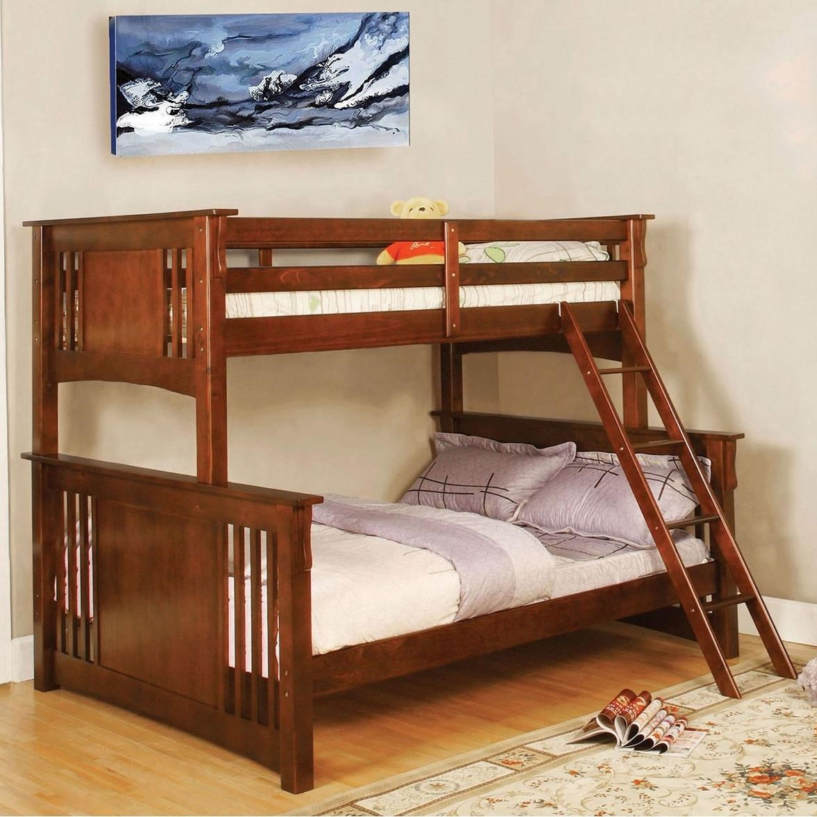Spring Creek Twin/Full Bunk Bed at Household Furniture