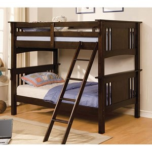 Twin Over Twin Size Youth Bedroom Bunk Bed
