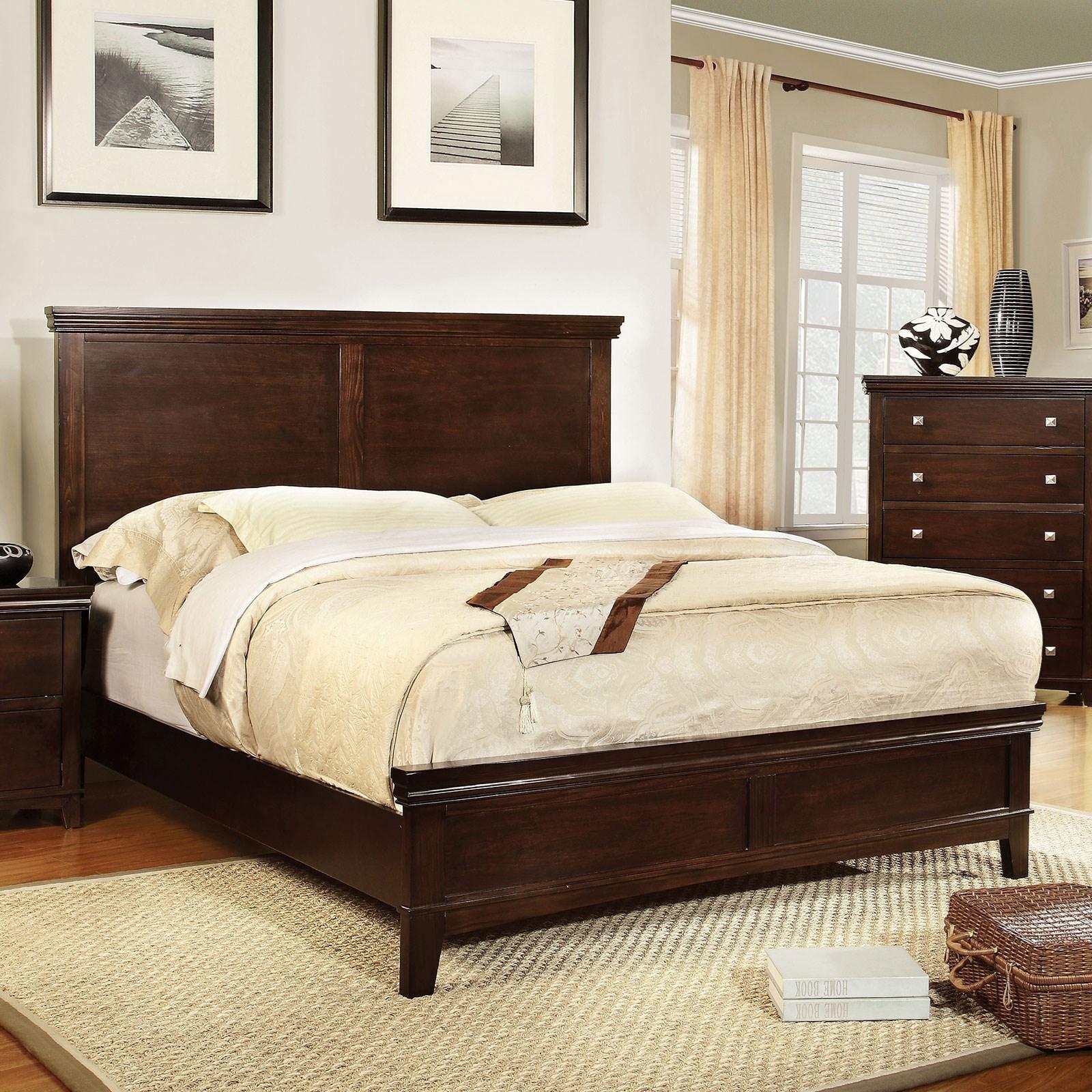 Spruce King Panel Platform Bed at Household Furniture