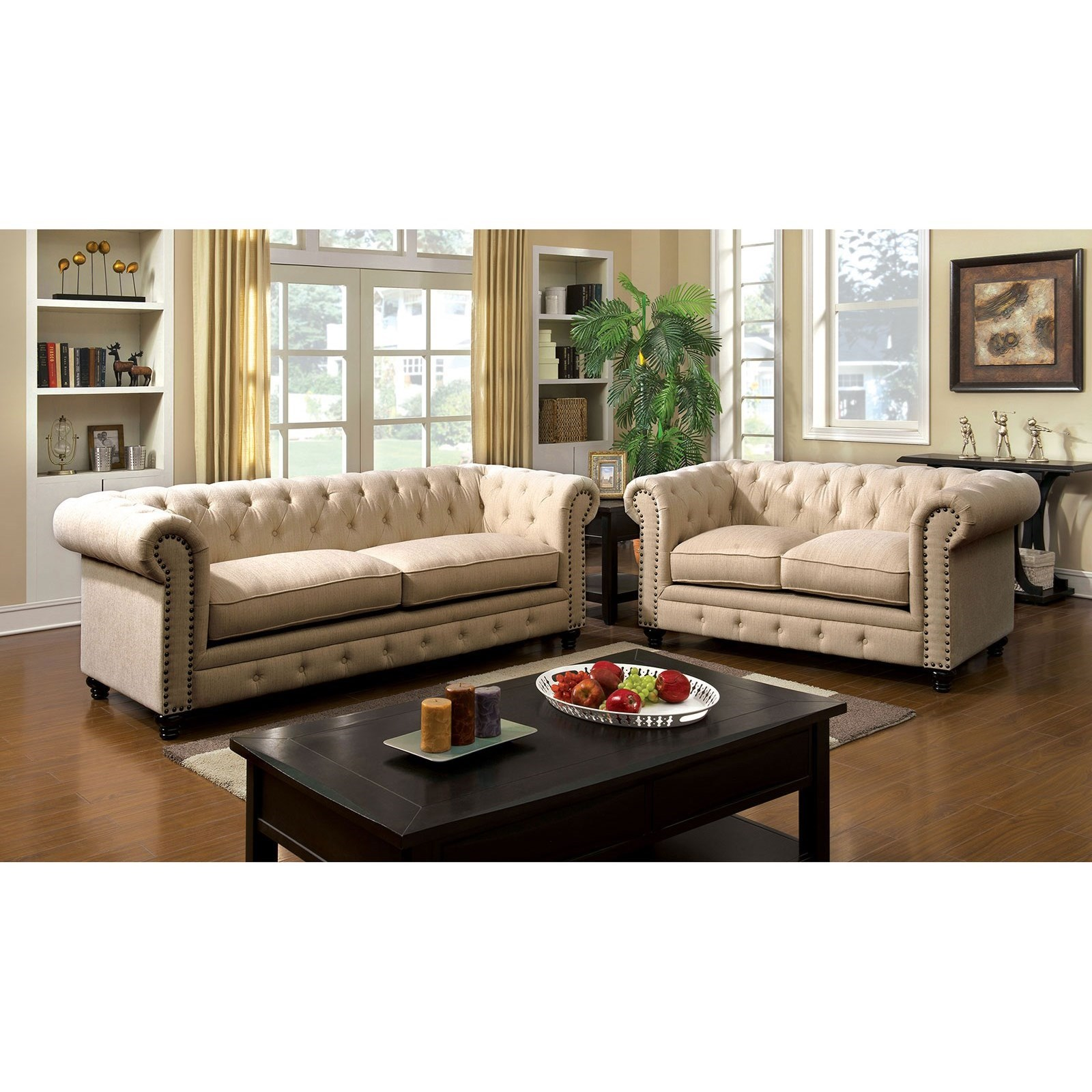 Stanford Stationary Living Room Group by Furniture of America at Corner Furniture