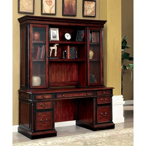 Transitional Computer Desk and Hutch
