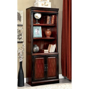 Transitional Bookcase with Two Doors